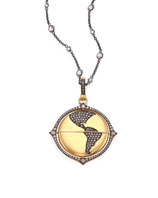 Annoushka | Metallic Mythology Diamond & 18k Yellow Gold Globe Amulet | Lyst