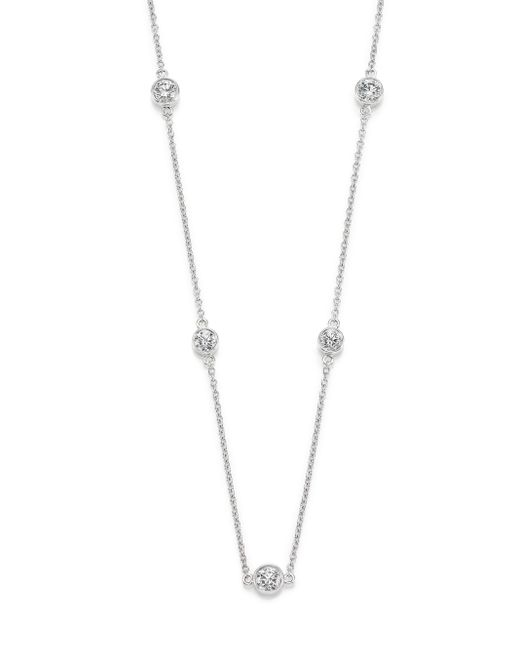 Kwiat | Diamond & 18k White Gold Strings Station Necklace | Lyst