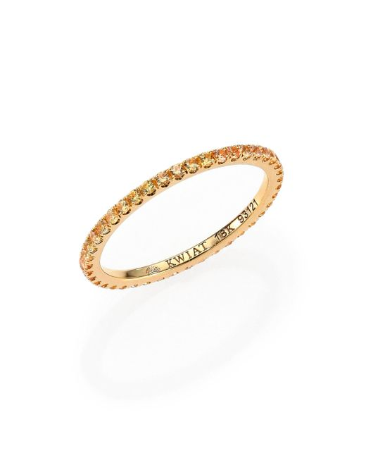Kwiat | Metallic Yellow Sapphire & 18k Yellow Gold Eternity Stacking Ring | Lyst