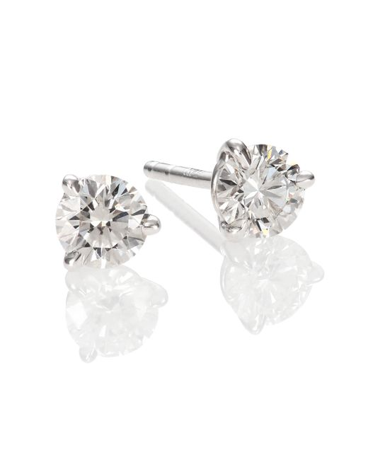 Kwiat | Metallic Diamond & Platinum Stud Earrings/0.7 Tcw | Lyst