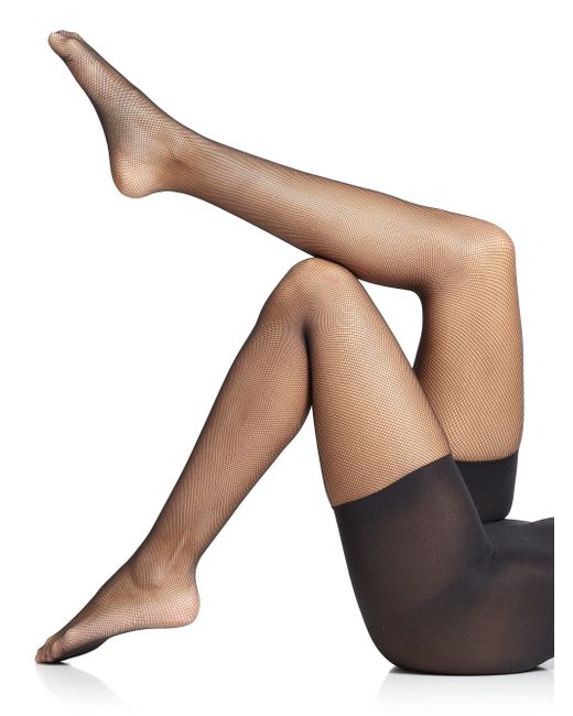 Spanx | Black Uptown Tight-end Micro-fishnet Tights | Lyst