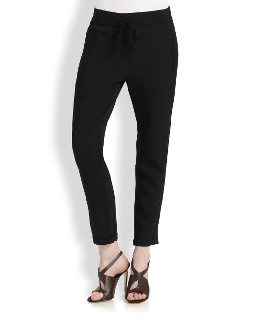 Stella McCartney | Black Crepe Harem Pants | Lyst