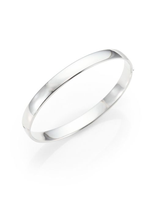 Roberto Coin | Metallic 18k White Gold Bangle Bracelet | Lyst