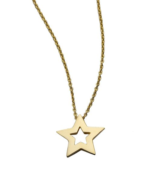 Roberto Coin | Tiny Treasures 18k Yellow Gold Small Star Pendant Necklace | Lyst