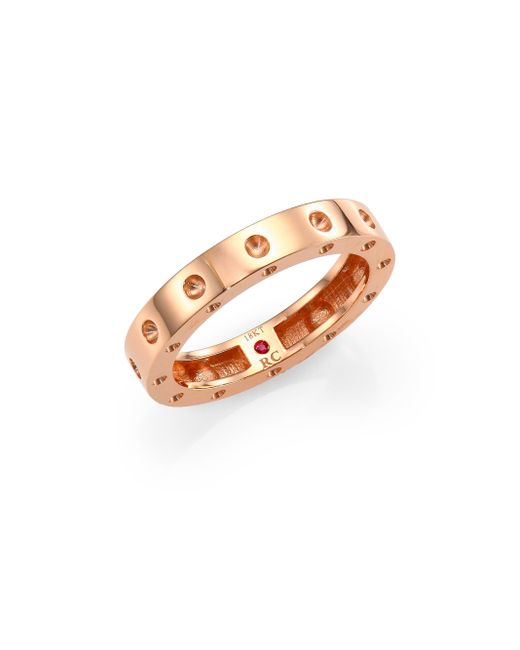 Roberto Coin   Pink Pois Moi 18k Rose Gold Single-row Band Ring   Lyst