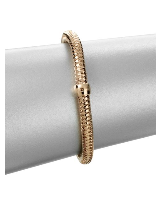 Roberto Coin | Metallic Primavera 18k Rose Gold Woven Bracelet | Lyst