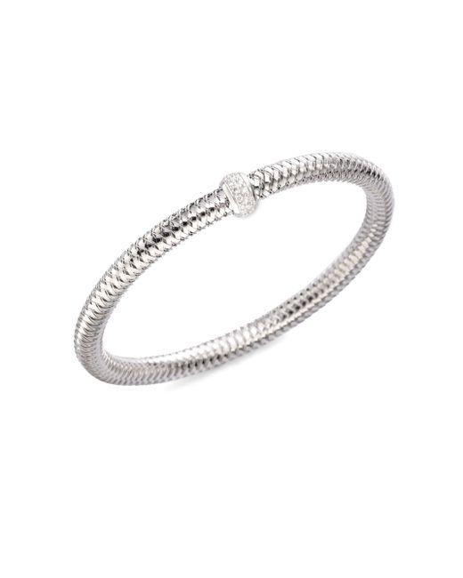 Roberto Coin | Metallic Primavera Diamond & 18k White Gold Woven Bracelet | Lyst