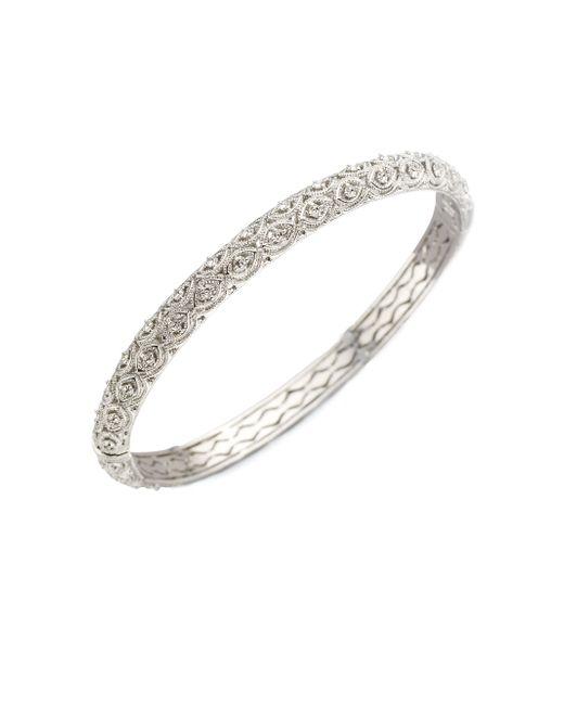 Adriana Orsini | Metallic Filigree Pave Bracelet | Lyst