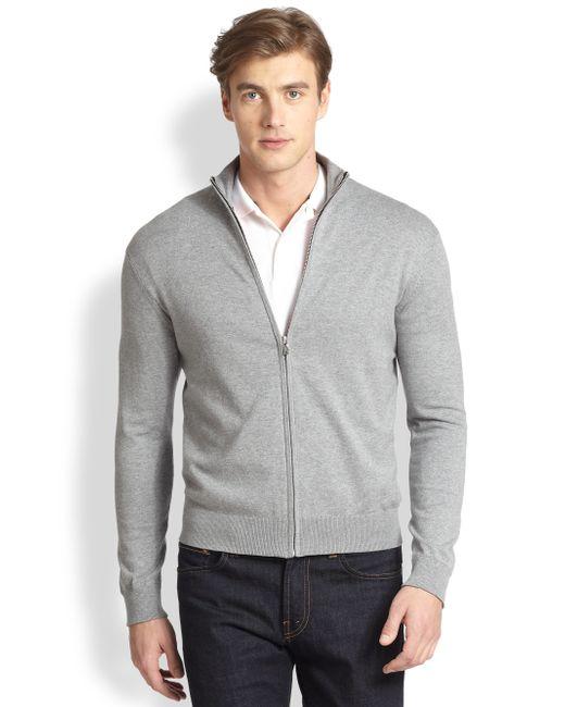 Victorinox   Gray Front Zip Cardigan for Men   Lyst