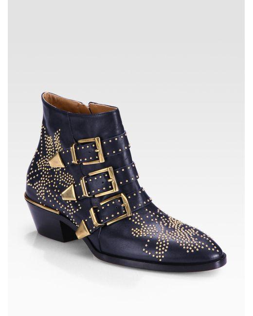 Chloé | Blue Susanna Ankle Boots | Lyst