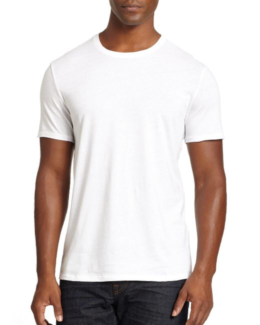 Vince | White Crewneck Tee for Men | Lyst