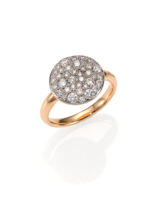 Pomellato | Pink Sabbia Diamond & 18k Rose Gold Ring | Lyst