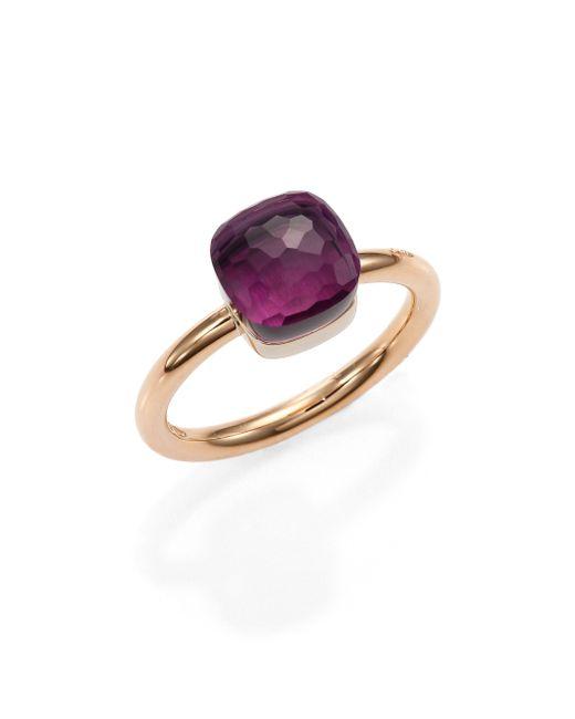 Pomellato | Metallic Nudo Amethyst & 18k Rose Gold Small Ring | Lyst