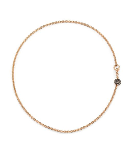 Pomellato | Pink Sabbia Brown Diamond & 18k Rose Gold Necklace | Lyst