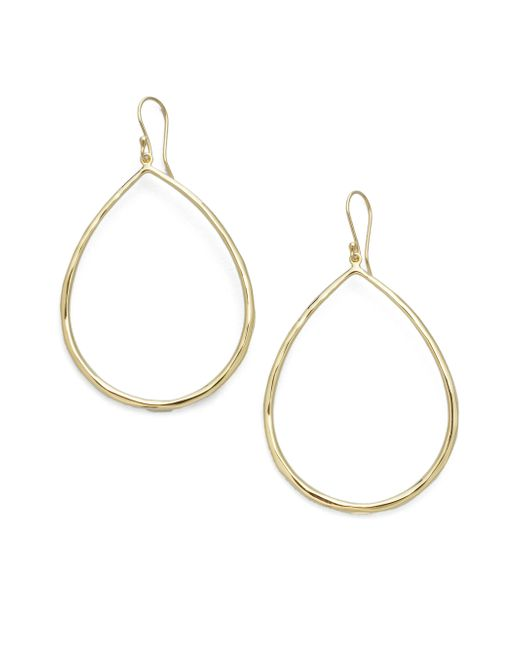 Ippolita | Metallic Glamazon Sculptural Metal 18k Yellow Gold Large Teardrop Earrings | Lyst
