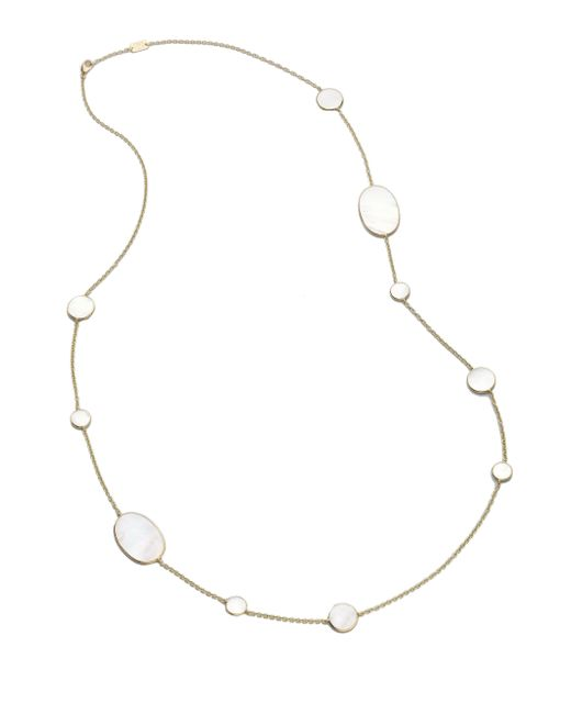 Ippolita | Metallic Polished Rock Candy Mother-of-pearl & 18k Yellow Gold Station Necklace | Lyst