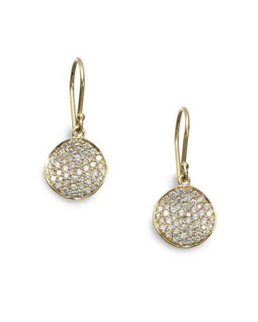Ippolita | Metallic Stardust Diamond & 18k Yellow Gold Disc Earrings | Lyst