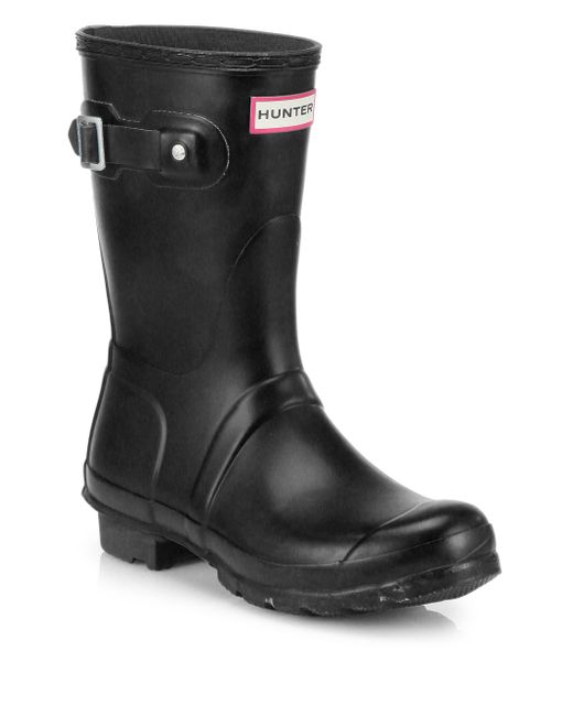 HUNTER | Black Original Short Rain Boots | Lyst