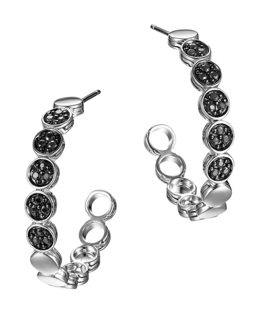 John Hardy | Dot Black Sapphire & Sterling Silver Hoop Earrings/1.05 | Lyst