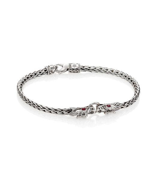 John Hardy | Metallic Naga Ruby & Sterling Silver Classic Chain Bracelet | Lyst
