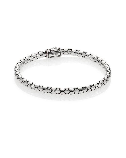 John Hardy | Metallic Dot Sterling Silver Slim Bracelet | Lyst