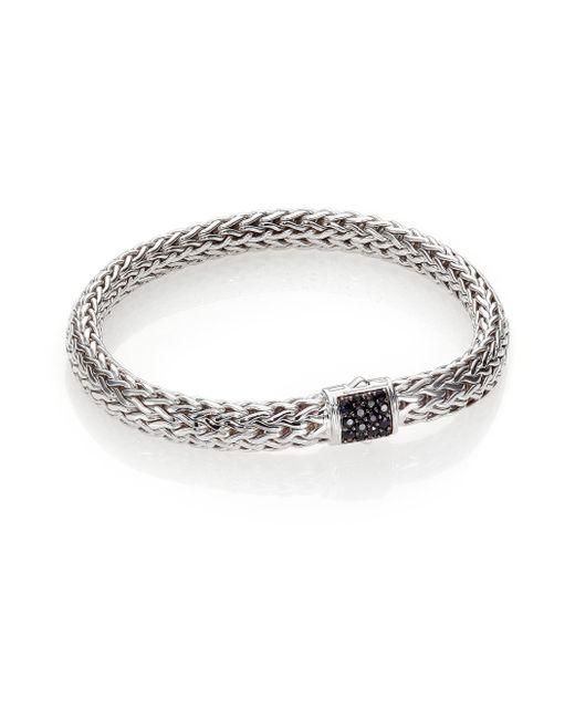 John Hardy | Metallic Classic Chain Black Sapphire & Sterling Silver Medium Bracelet | Lyst