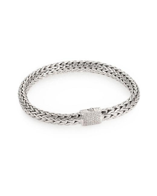 John Hardy | Metallic Classic Chain Diamond & Sterling Silver Medium Bracelet | Lyst