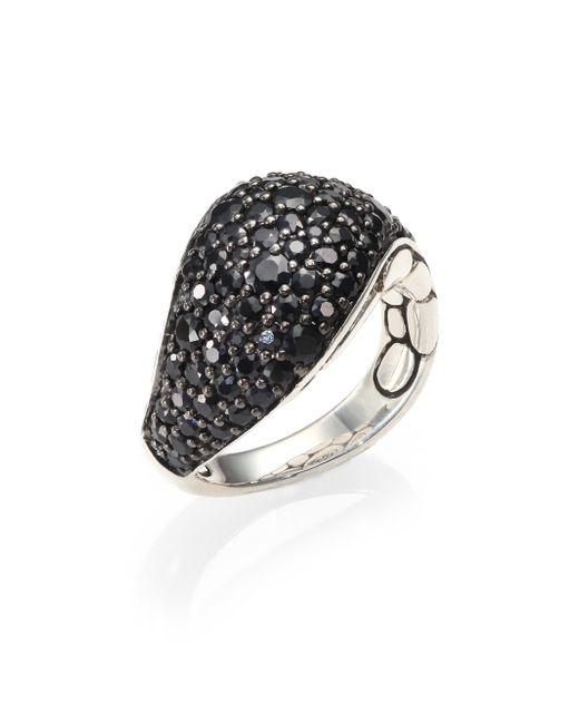 John Hardy | Kali Black Sapphire & Sterling Silver Lava Ring | Lyst