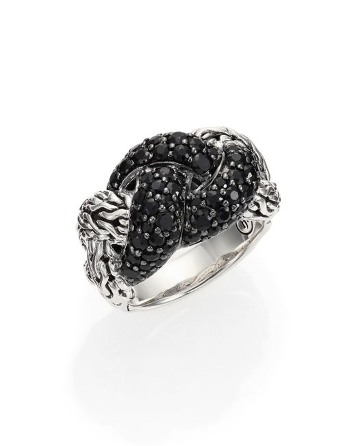 John Hardy | Metallic Classic Chain Sapphire & Sterling Silver Braided Ring | Lyst