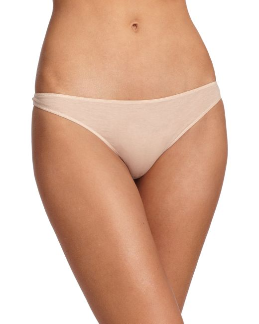 Hanro | Natural Ultralight Thong | Lyst