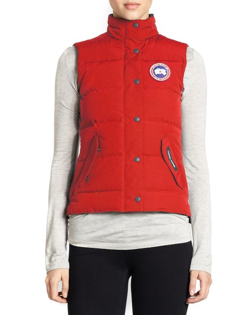 Canada Goose | Red Down Freestyle Vest | Lyst