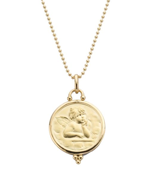 Temple St. Clair | Metallic Angel 18k Yellow Gold Large Pendant | Lyst