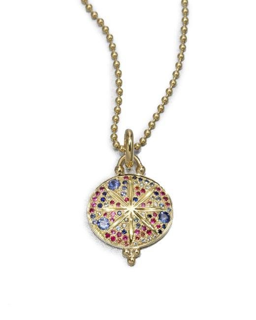 Temple St. Clair | Metallic Celestial Multicolor Sapphire & 18k Yellow Gold Sorcerer Pendant | Lyst