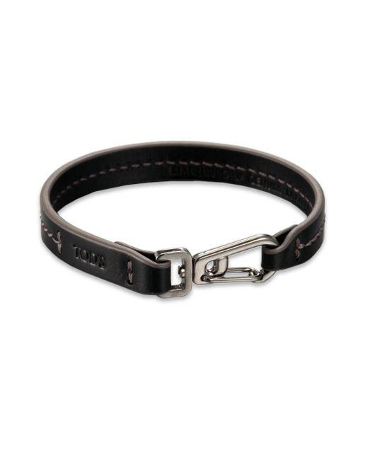 Tod's - Blue Marina Topstitched Leather Bracelet for Men - Lyst
