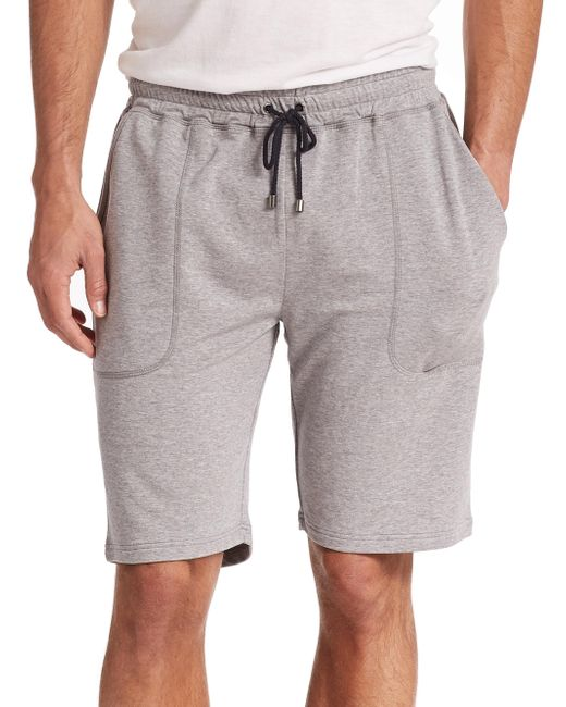 Saks Fifth Avenue - Gray Jersey Shorts for Men - Lyst