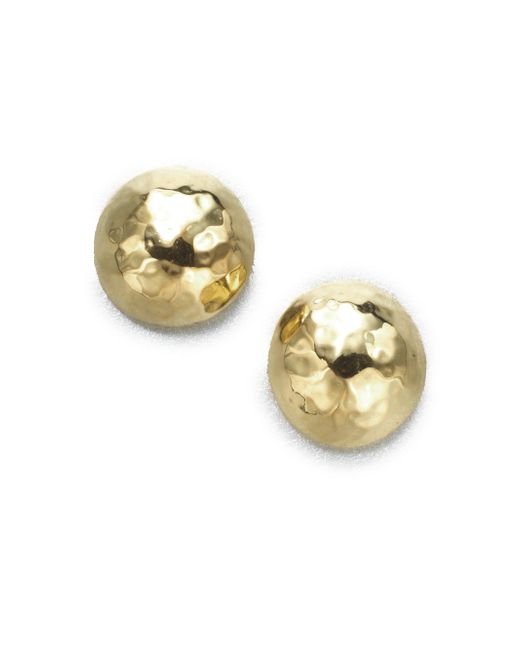 Ippolita - Metallic Glamazon 18k Yellow Gold Pin Ball Stud Earrings - Lyst
