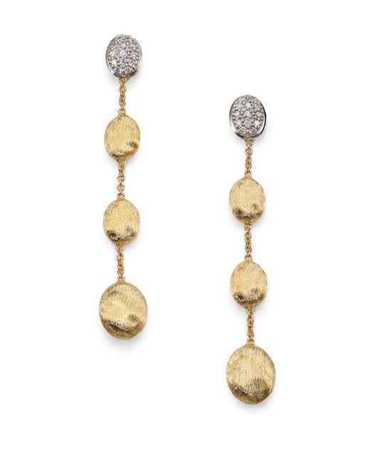 Marco Bicego - Metallic Siviglia Diamond & 18k Yellow Gold Drop Earrings - Lyst