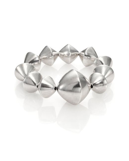 Nest   Metallic Large Bi-cone Beaded Stretch Bracelet   Lyst