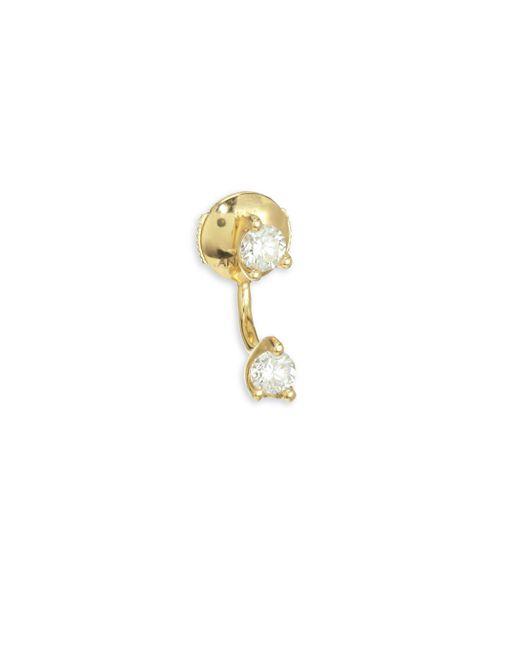 Anita Ko - Metallic 18k Gold & Diamond Orbit Earring - Lyst