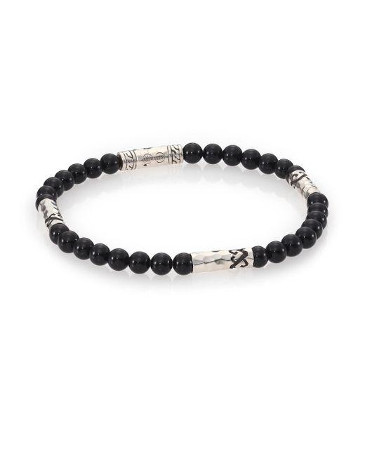John Hardy - Mult-station Black Onyx Bracelet for Men - Lyst