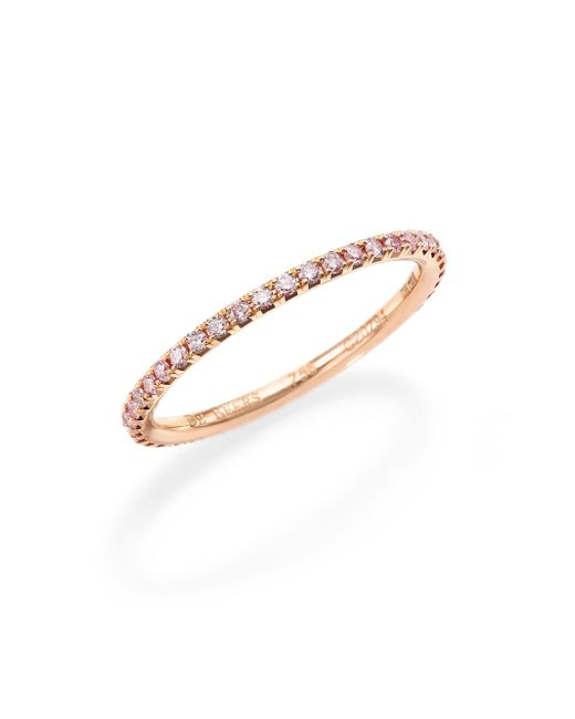 De Beers - Aura Pink Diamond & 18k Rose Gold Band Ring - Lyst