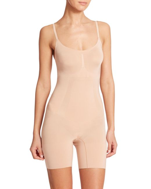 Spanx - Natural Oncore Mid-thigh Bodysuit - Lyst
