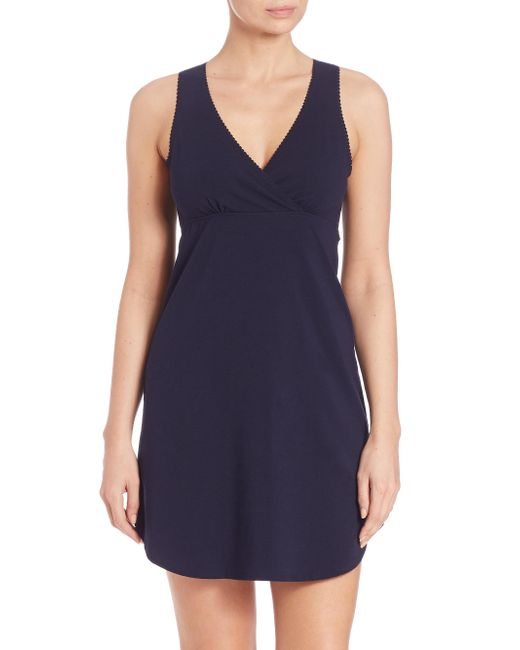 Naked   Black Essential Cotton Chemise   Lyst