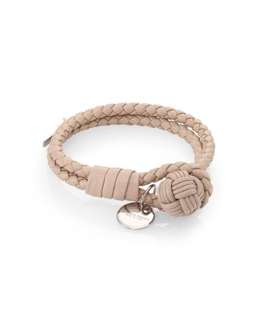 Bottega Veneta | Natural Intrecciato Leather Double-row Wrap Bracelet | Lyst
