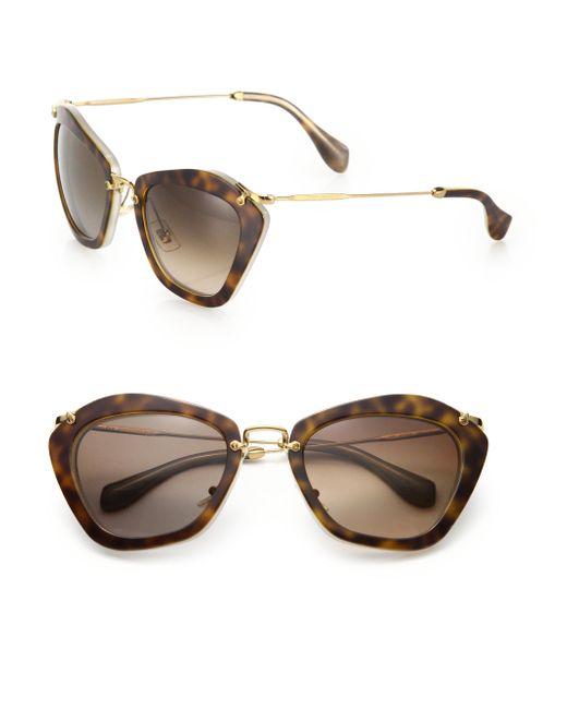 Miu Miu - Natural Noir Catwalk Cat Eye Sunglasses - Lyst