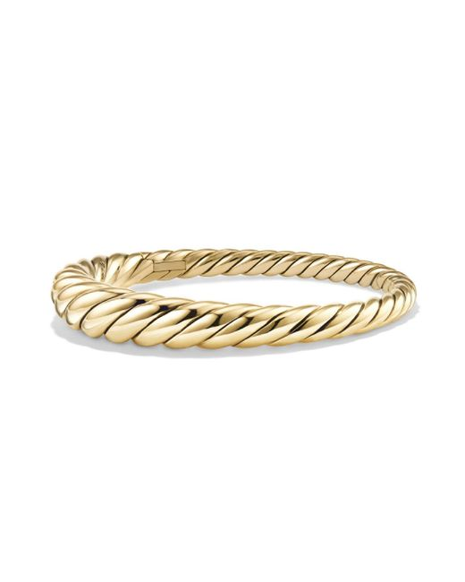 David Yurman - Metallic 18kt Yellow Gold Pure Form Cable Bangle - Lyst