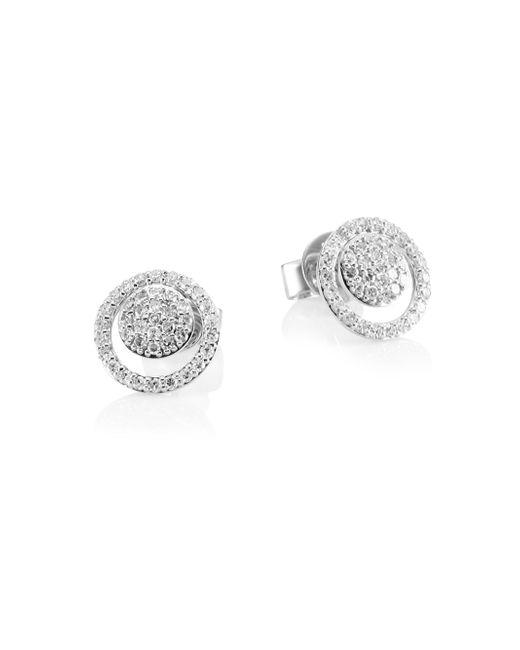Phillips House - Metallic 18k White Gold & Diamond Micro Diamond Loop Earring - Lyst
