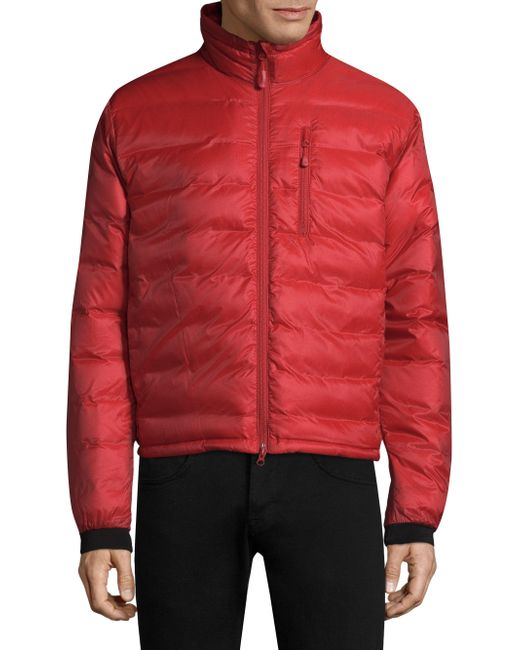 Lyst Canada Goose Full Zip Quilted Jacket In Red For Men