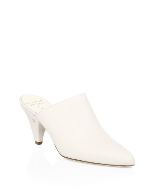 Laurence Dacade - White Stefany Leather Kitten-heel Mules - Lyst