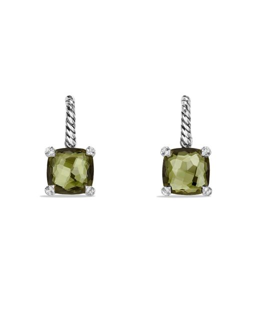 David Yurman - Green Châtelaine Drop Earrings With Gemstone And Diamonds - Lyst